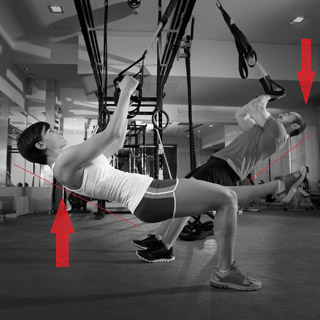 Suspension-Trainer: Hangabstiegskraft
